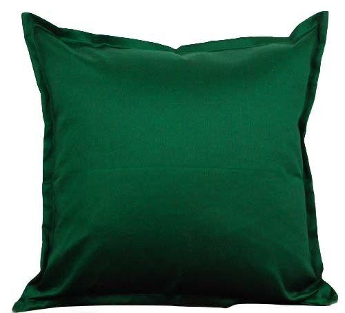 "Two Green Throw Pillows With Insert Cotton Cushion Sofa 18""X"