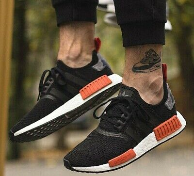 9a8516b1e New adidas NMD R1 Mens sneaker black orange burnt camo all sizes