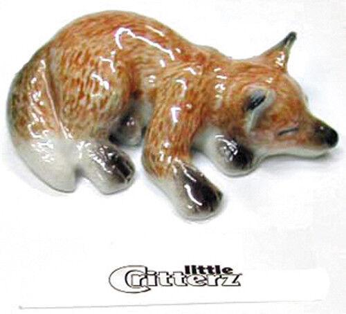 ➸ LITTLE CRITTERZ Forest Animal Miniature Figurine Fox Cub Sly