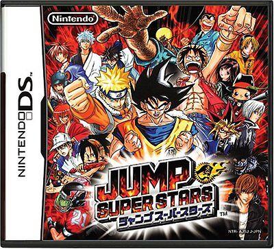 USED NINTENDO DS JUMP SUPER STARS JAPAN IMPORT REGION FREE.