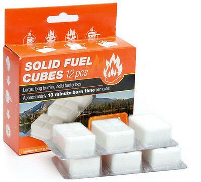 Esbit Solid Fuel Cube Tablets Camping Stove Fire Starter 12pc x 14g for sale  Shipping to India