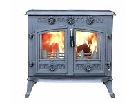 Fantastic, Brand New! Multi-fuel Wood Burning Stove with Back Boiler for all your heating needs!
