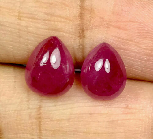 4.82cts GFCO Certified Natural Unheat Untreat Burma Ruby Pair Loose Gemstone