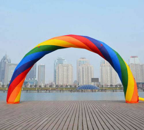 Brand New Discount 20ft*10ft D=6M/20ft inflatable Rainbow arch Advertising 6m s