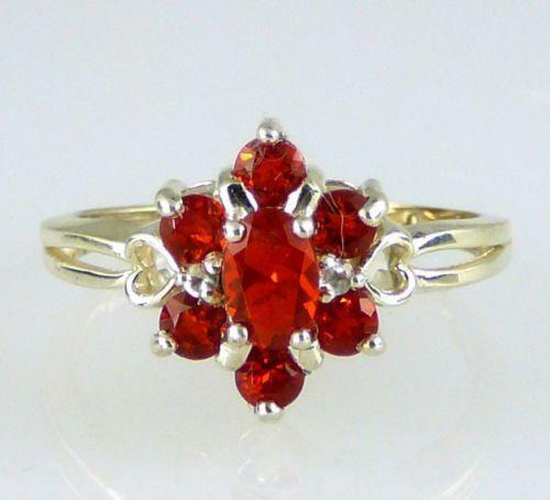 Mexican Fire Opal Ring Ebay