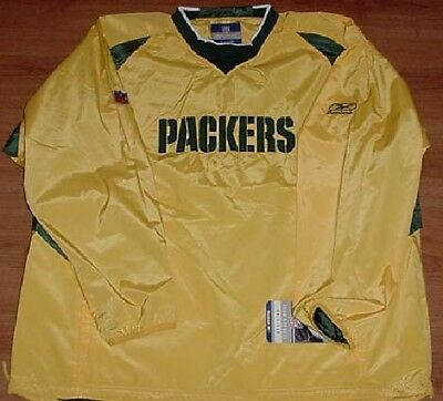 Green Bay Packers Pullover Hot Jacket Large NFL Reebok On Field Authentic - Green Pullover Hot Jacket
