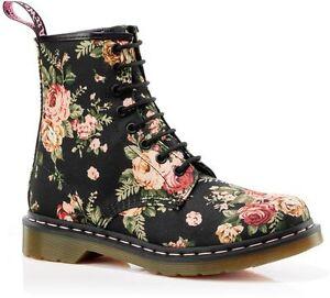 Wonderful 90s Floral Doc Martens Boots Women 7 UK 5 Never By KlubKidVintage