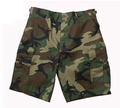 WOODLAND CAMO MILITARY Men's BDU Combat Shorts BY Rothco XS S M L XL 2X 3X 4X - Xl Woodland Camo