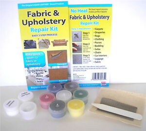 Fabric Upholstery Repair Kit Fix Sofa Couch Carpet Luggage #1 Guaranteed