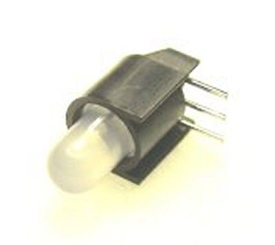 20 BIPOLAR 5MM 3 LEAD LEDS IN HOUSING FOR S SCALE DWARF SIGNALS WITH FREE RESIS