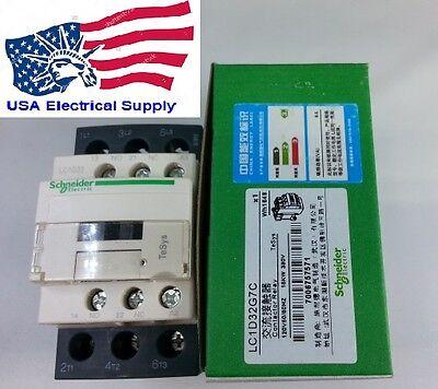 LC1D32G7C Schneider Contactor With Coil 120VAC 32Amp. 50/60Hz