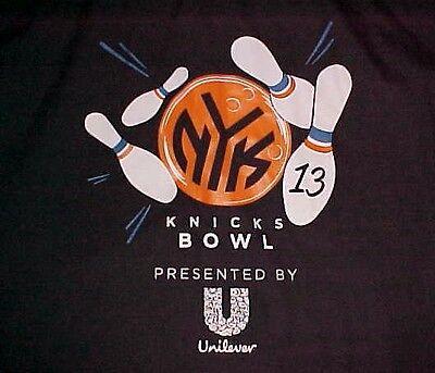 New York Knicks 13 Bowl Unilever Garden Of Teams Black Bowling Camp Shirt Xl
