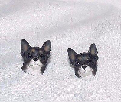 3 Headed Dog Costume (Chihuahua Dog Head Plastic Resin Pierced Earrings 3D Costume Novelty)