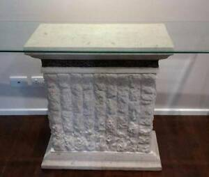 CONSOLE TABLE FOSSIL STONE ENTRANCE WITH GLAS Bankstown Bankstown Area Preview