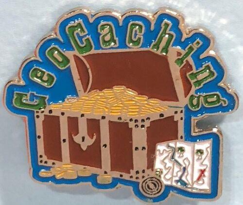 GEOCaching ,Treasure Chest Logo Pin