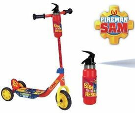 Fireman Sam Extinguisher Tri-Scooter. NEW in box