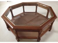 Glass Top Wooden Table desk