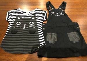 Cute Cat Overall Dress - Size 5