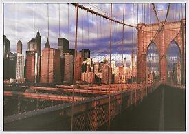 Ikea Vishult Brooklyn Bridge Canvas in Frame