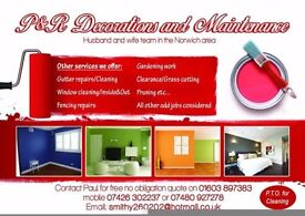 Painter £90 per day,photos of pass work attached, husband and wife team