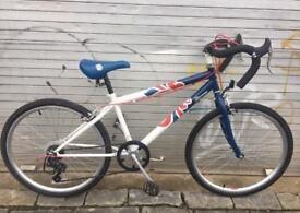 Team GB 24inch wheel racing style kids bike