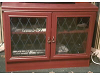 Cabinet with Leaded glass doors