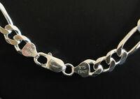 Big Silver figaro chain
