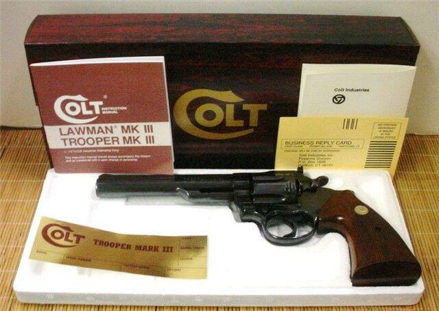 Colt Trooper 6 & 8 inch- Box & PW Foam insert For Gun 1973-Mid 1980
