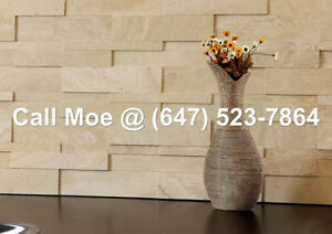 Satunia Travertine 3D Espace Wall Cladding Fireplace Stone Venee