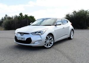 2012 Hyundai Veloster FS2 Coupe Silver 6 Speed Manual Hatchback Ingle Farm Salisbury Area Preview