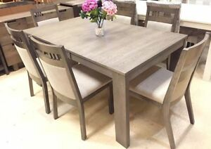 MODERN SOLID WOOD DINING SETS 6 CHAIRS