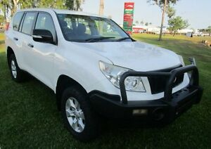 2011 Toyota Landcruiser Prado KDJ150R GXL White 5 Speed Sports Automatic Wagon Hidden Valley Darwin City Preview