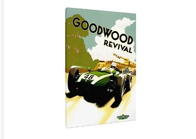 Goodwood Revival 30x20 Inch Canvas - Classic Car Framed Picture Poster Print