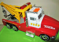 """++ TONKA ++  Roadside Service """"TOW TRUCK"""" Lights & Sounds + RED"""