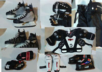 Hockey Skates and hockey equipment
