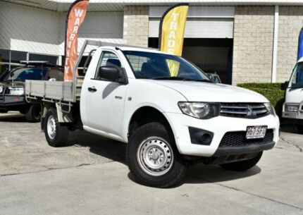 2009 Mitsubishi Triton MN MY10 GLX White 4 Speed Automatic Cab Chassis Capalaba Brisbane South East Preview