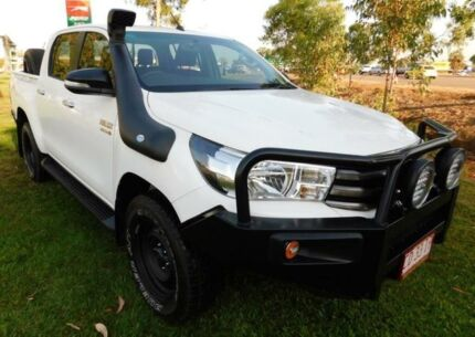 2015 Toyota Hilux GUN126R SR Double Cab White 6 Speed Automatic Utility Berrimah Darwin City Preview