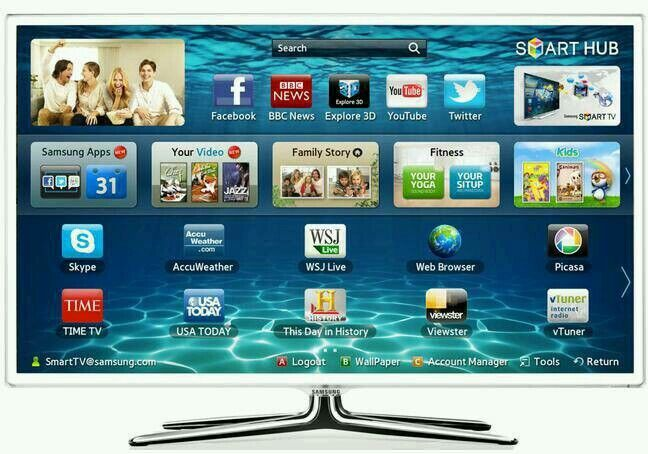 "White Samsung 40"" LED smart 3D wifi built USB MEDIA PLAYER HD FREEVIEW and freesat full hd 1080p ."