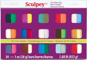 PATE A MODELER SCULPEY III OVEN-BAKE CLAY 30 COULEURS COLORS NEW