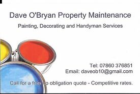 Local Painter, Decorator, Handyman happy to take on any work, fully insured.