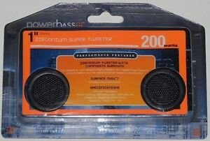 Powerbass S1ZT 1-Inch Zirconium 200 Watts Super Tweeters for car