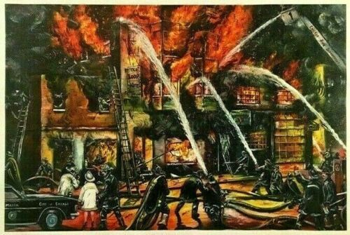 CHICAGO FIRE DEPARTMENT 1980 STRIKE LEE KOWALSKI MAYOR JANE BYRNE CANVAS PRINT