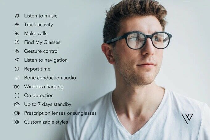 Vue Orignal Smart Glasses Bluetooth Audio Music w/ portable Charging Case