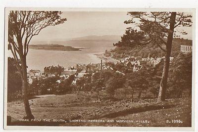 Oban From South Kerrara & Morvern Hills RP Postcard  214a