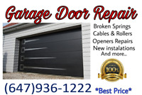 #1 GARAGE DOOR REPAIR BRAMPTON & MISSISSAUGA 647-936-1222 ☆☆☆☆☆