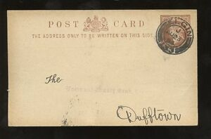 SCOTLAND-STATIONERY-1894-1-2d-CARD-TOWN-COUNTY-BANK-ELGIN-to-DUFFTOWN