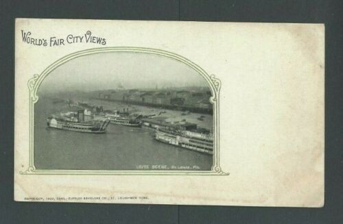 1904 Post Card Worlds Fair St Louis Scene Of Levee UDB Unposted
