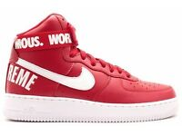 Nike X Supreme Air Force 1 High SP 'Red' Size UK 10 Brand New