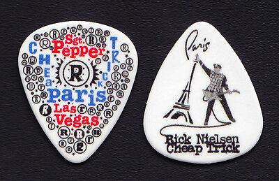 Cheap Trick Rick Nielsen Paris Las Vegas White Guitar Pick #2 - 2010 Tour