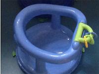 Baby bath seat with inbuilt toys